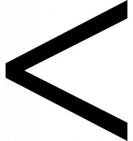 < - signe lettres adhésives