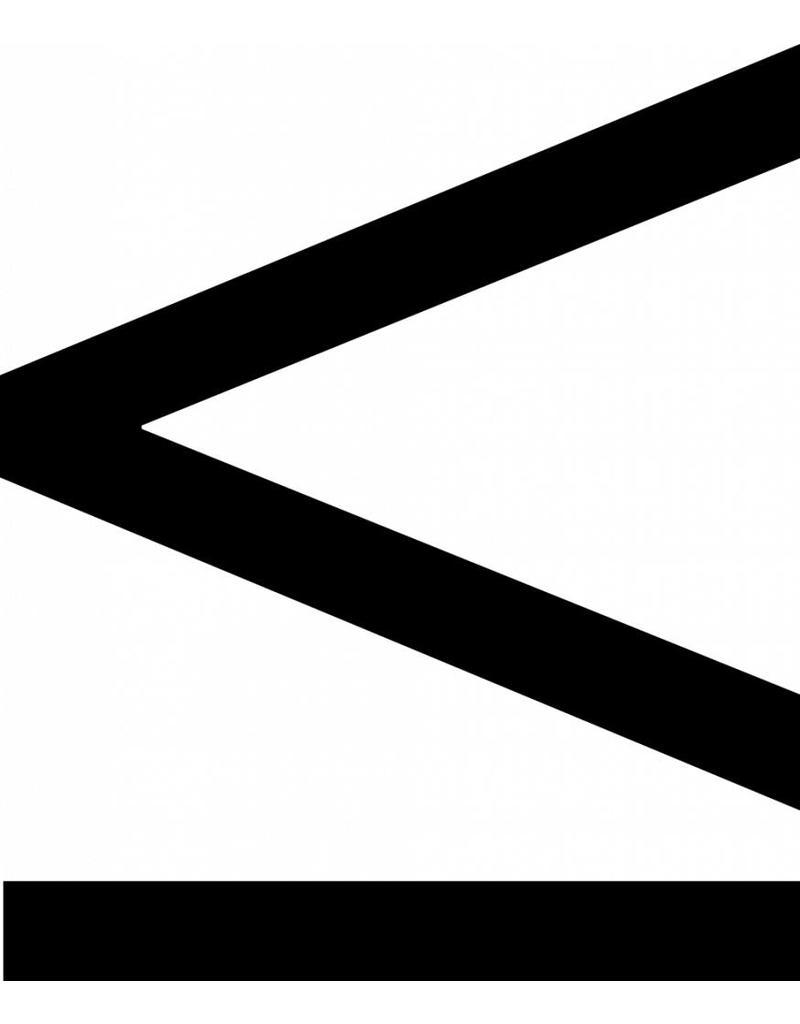 inférieur ou égal à signe lettres adhésives