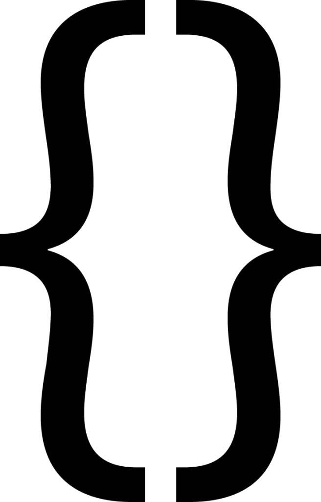 Bouclé parenthèses lettres adhésives