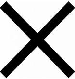 X - signe lettres adhésives