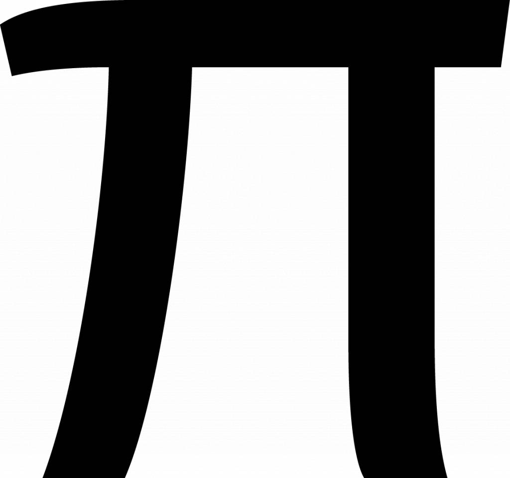 Pi Letter Sticker