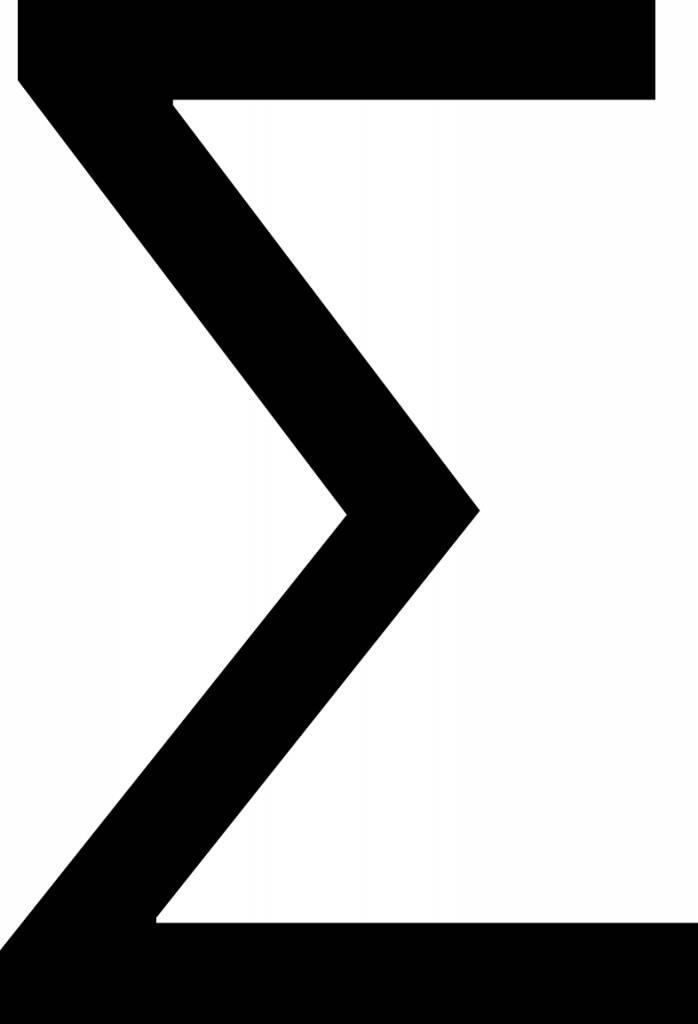 Sum Letter Sticker