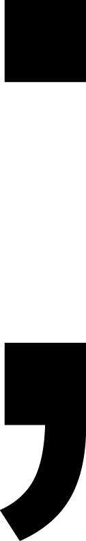 Semikolon Klebebuchstabe