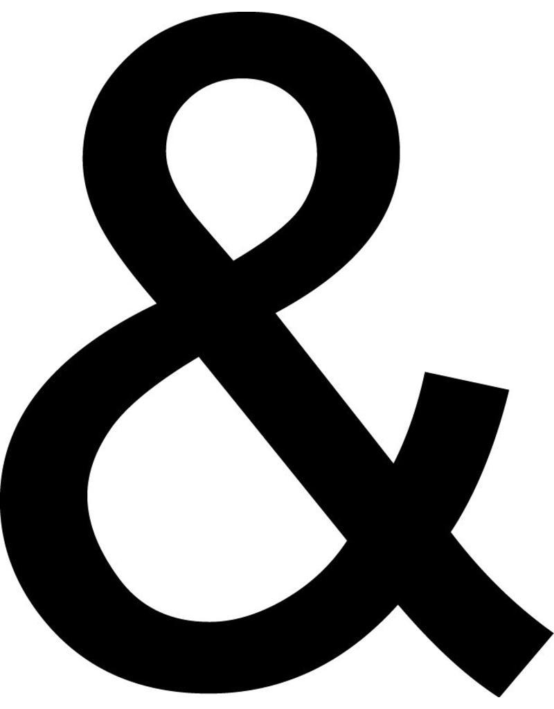 & - signe Lettres Adhésives