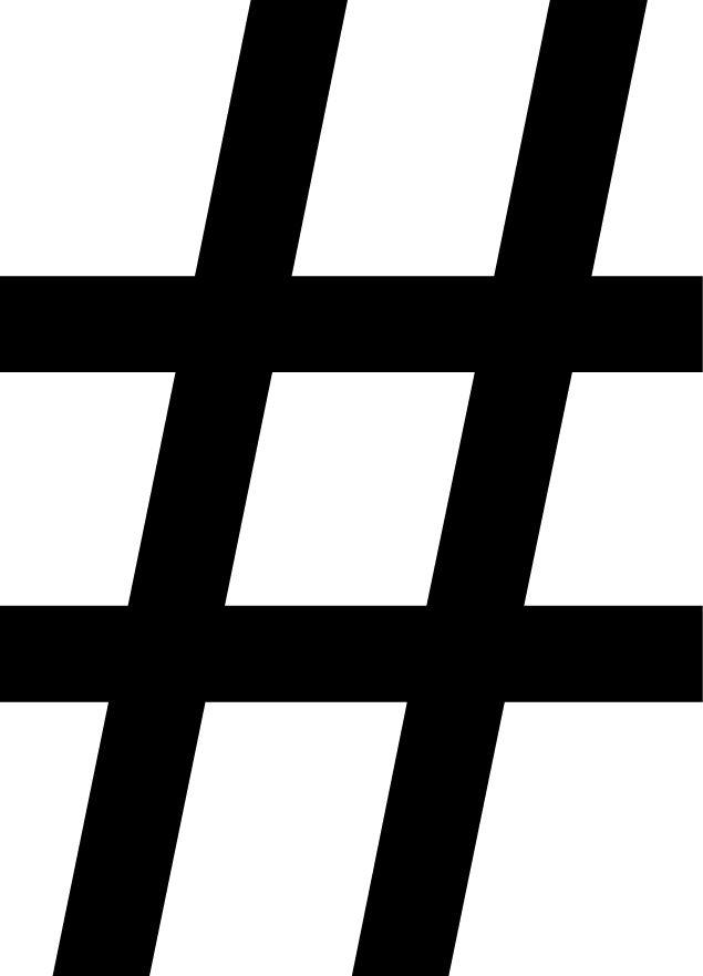 Hashtag Letter Sticker