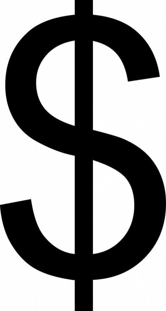 Dollar Klebebuchstabe