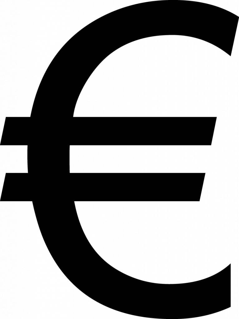 Euro Letter Sticker