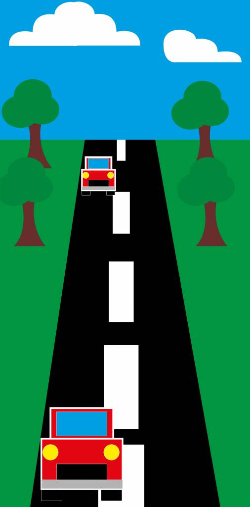 Autoroute Autocollant porte