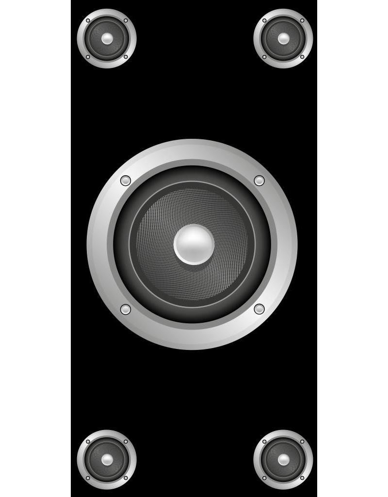 Speakers autocollant porte
