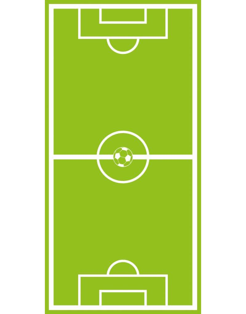Fußballfeld Tür Aufkleber