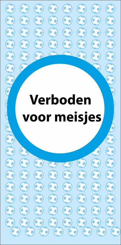 Forbidden for girls door sticker