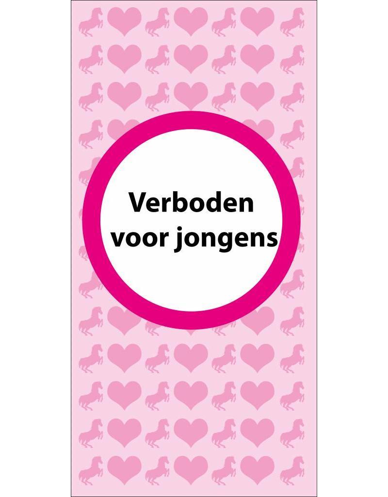 Forbidden for boys door sticker
