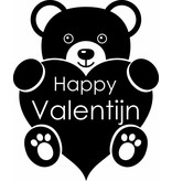Valentinstag - Teddybär mit einem Herzen