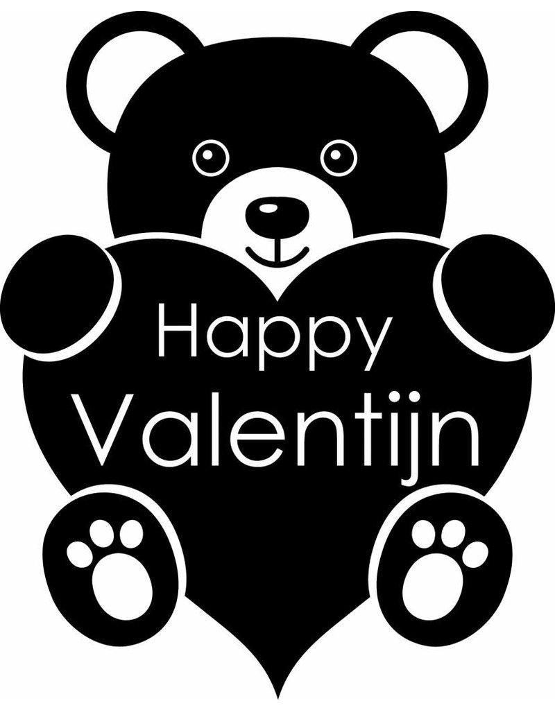 Día de San Valentín - oso con un corazón