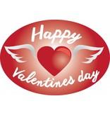 Saint Valentin - coeur avec des ailes