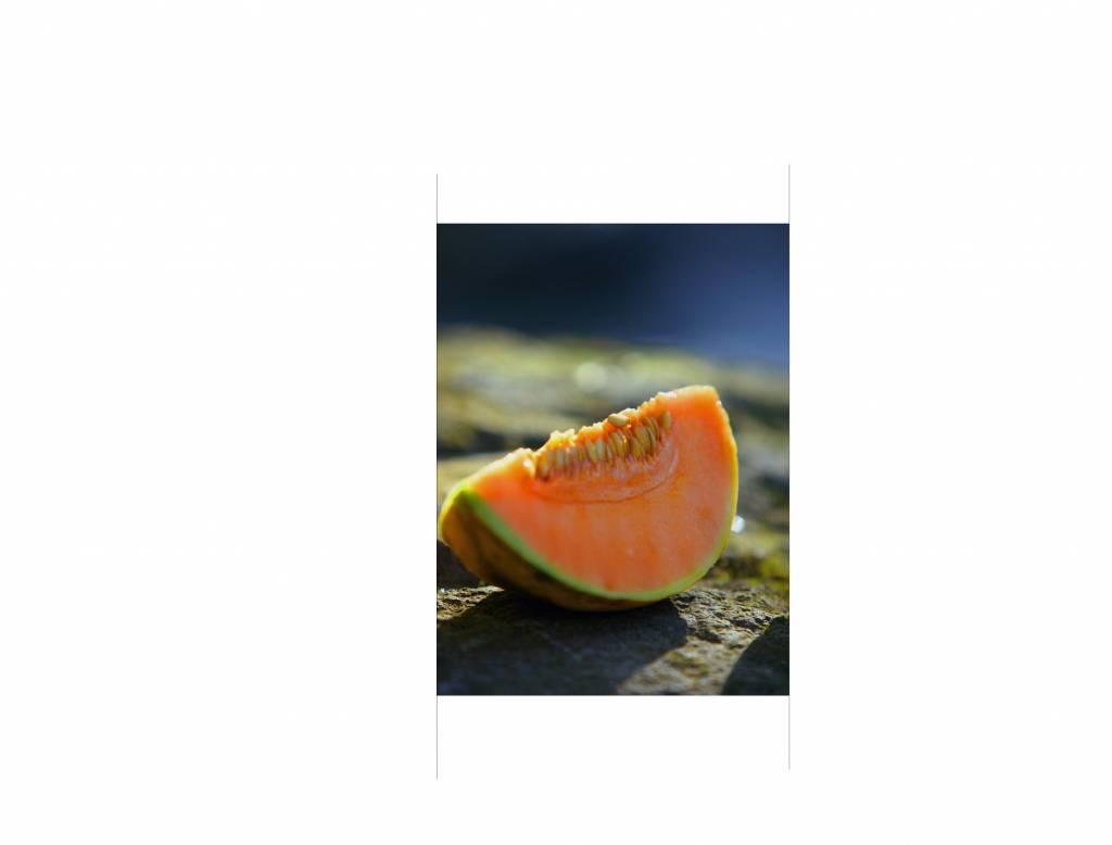 Pegatina de puerta melón