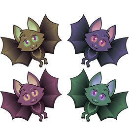 Window sticker funny bats