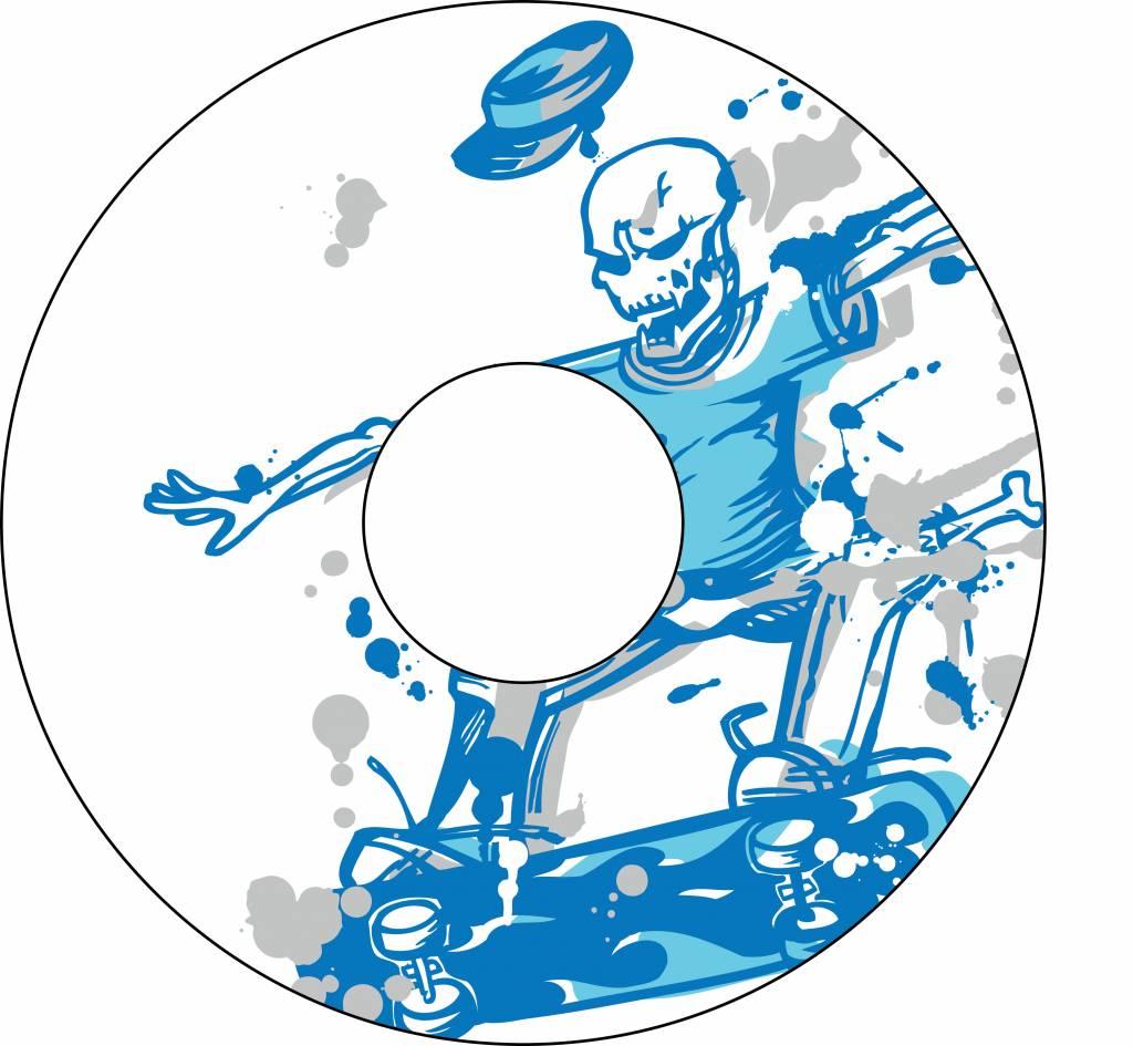 Spoke protector skateboard skull