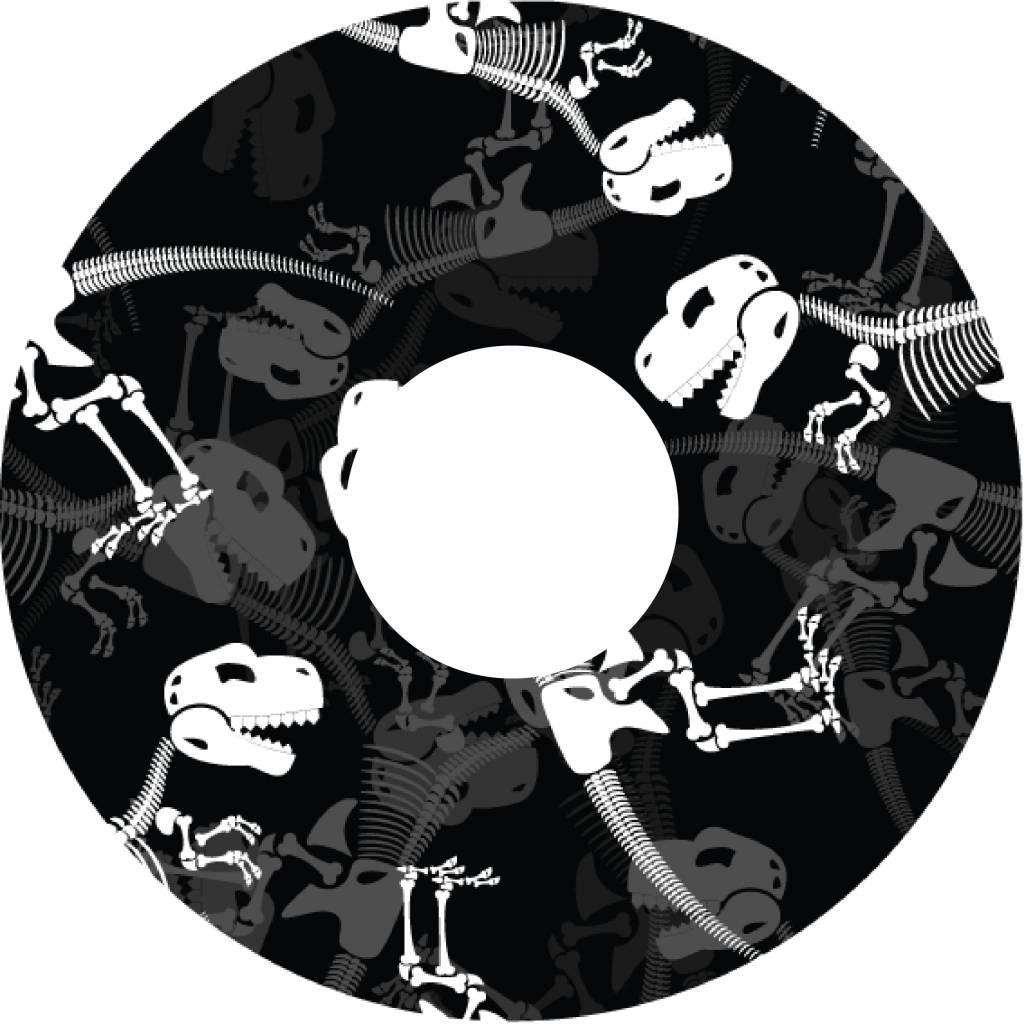 Spoke protector Dinosaur bones print