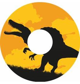 Spaakbeschermer sticker dinosaurus zwart