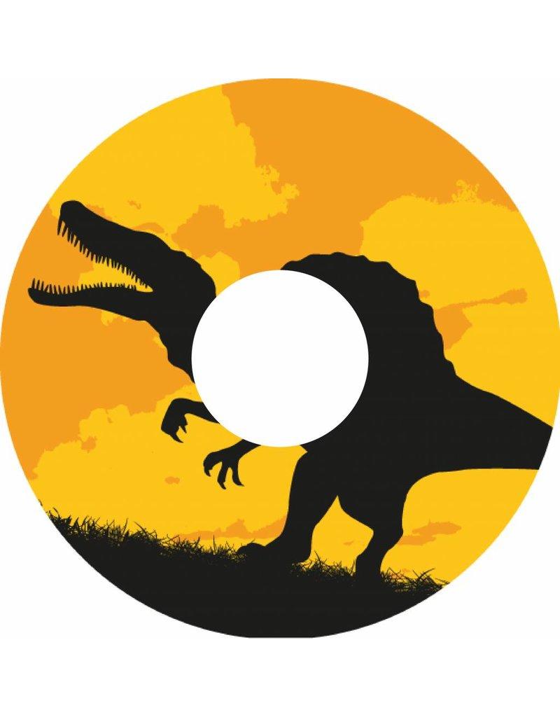 Spaakbeschermer dinosaurus zwart