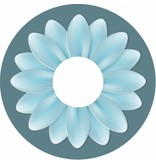 Pegatina protector de radios flor turquesa grande