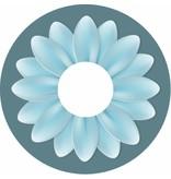 Spaakbeschermer turqoise bloem groot
