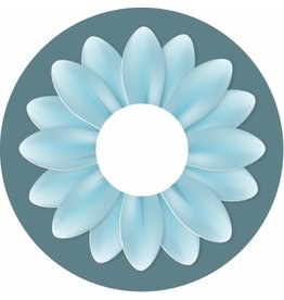 Spaakbeschermer sticker turqoise bloem groot