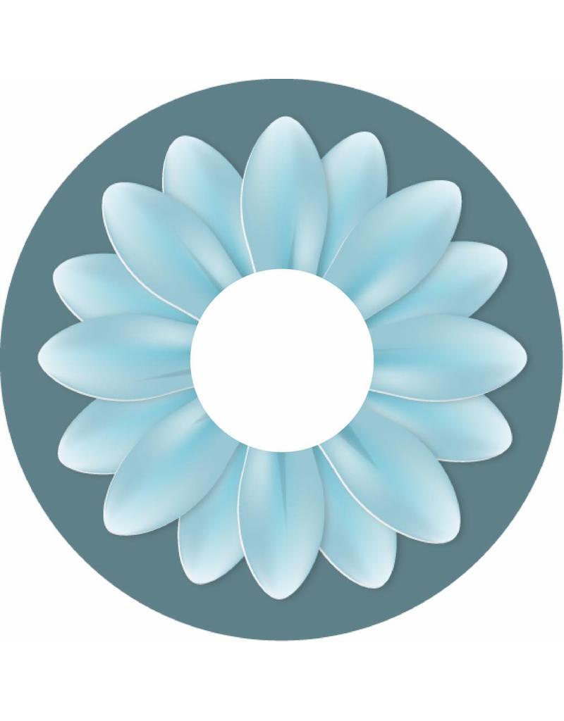 Spoke protector turquoise flower big