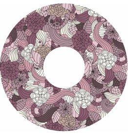 Spaakbeschermer sticker bloemen abstract met kleur