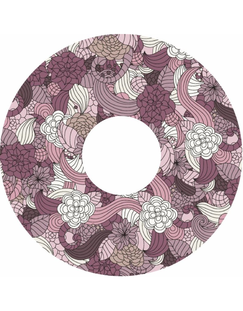 Spoke protector flowers abstract color print
