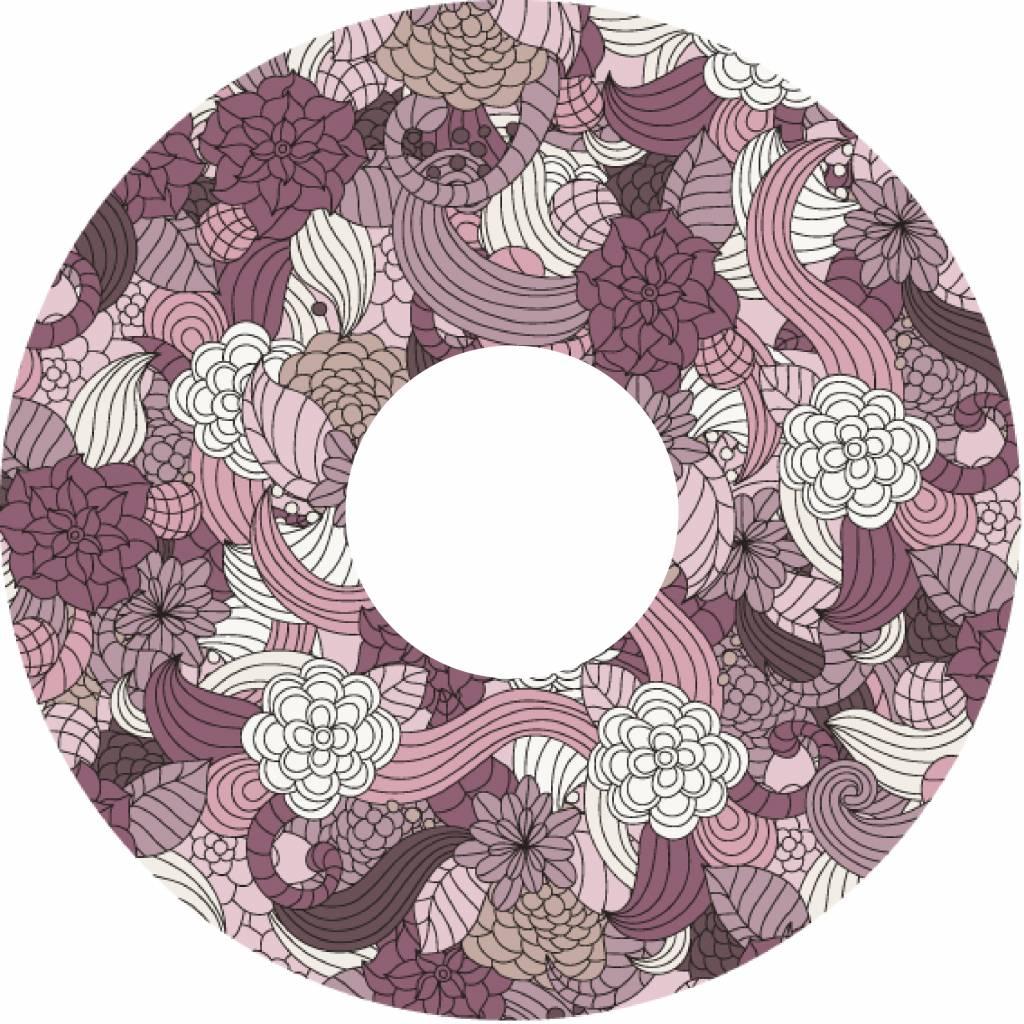 Spaakbeschermer bloemen abstract met kleur