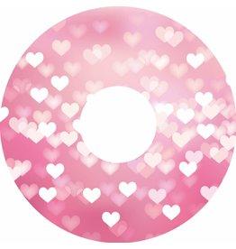 Spaakbeschermer sticker roze hartjes