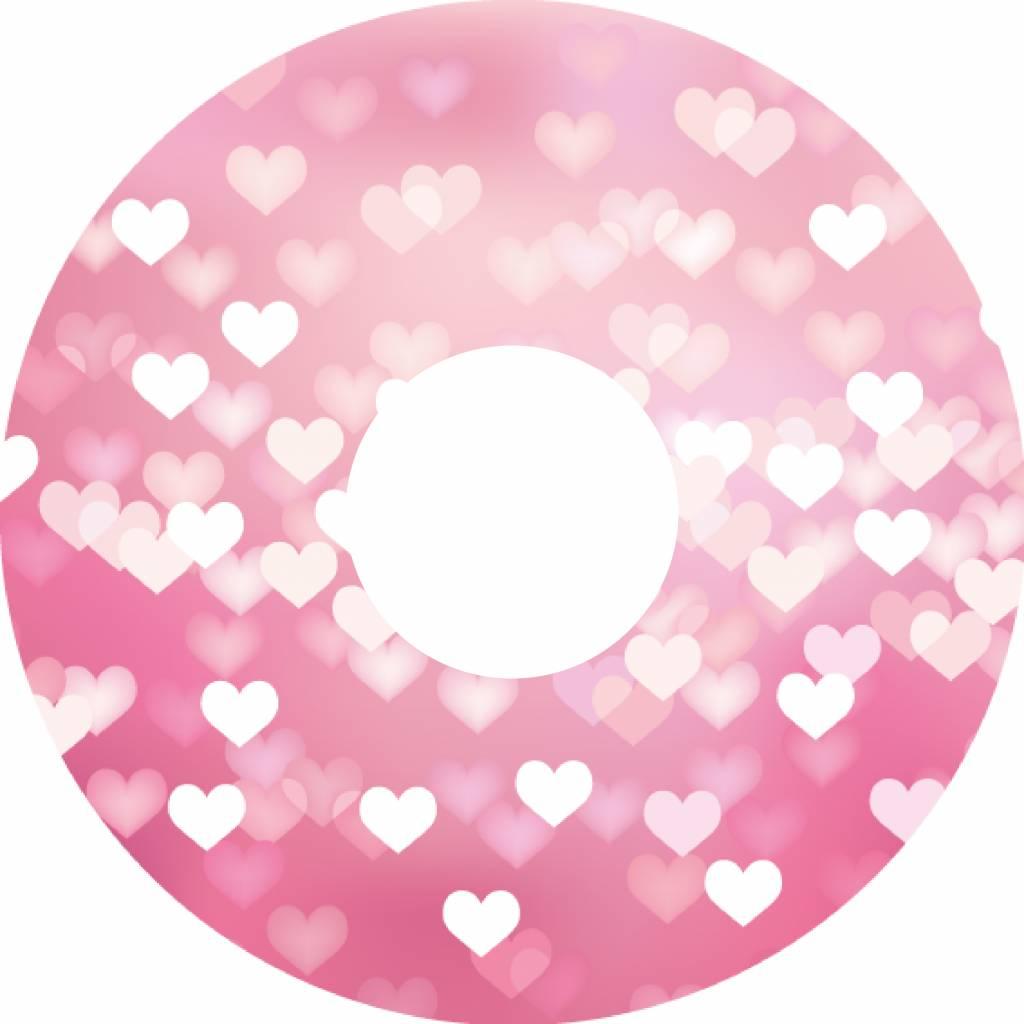 Pegatina protector de radios corazones de color rosa