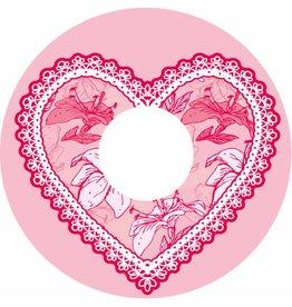 Spoke protector pink ragged heart