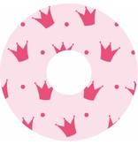 Speichenshutz rosa Kronen drucken