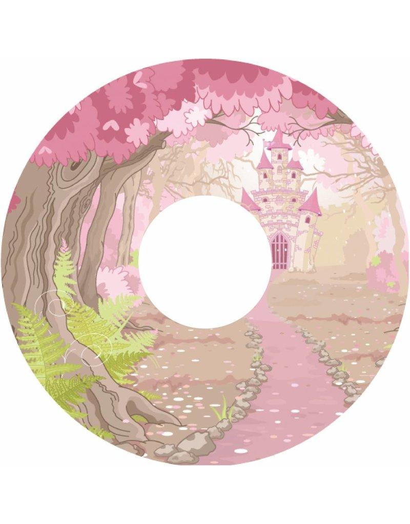 Pegatina protector de radios castillo rosado