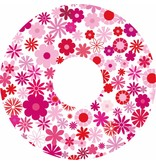 Pegatina protector de radios estampado de flores de color rosa