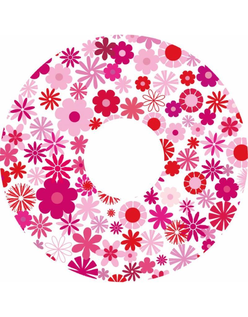 spaakbeschermer roze bloemen print