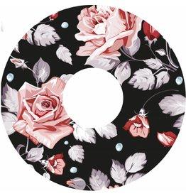 Autocollant protège-rayon avec des roses sur fond noir