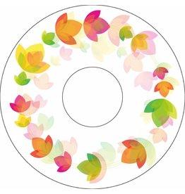 Pegatina protector de radios floral del círculo