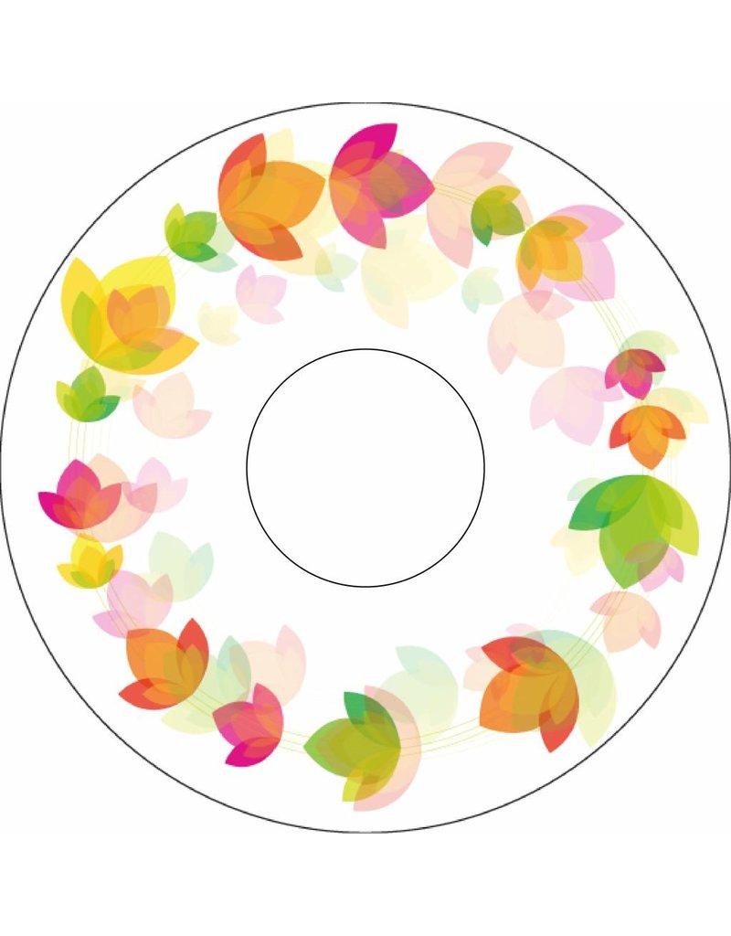 Autocollant protège-rayon cercle floral