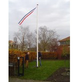 Flagpole with internal hoist rope + winch