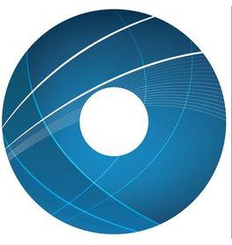 Spaakbeschermer sticker Abstract blauw 3
