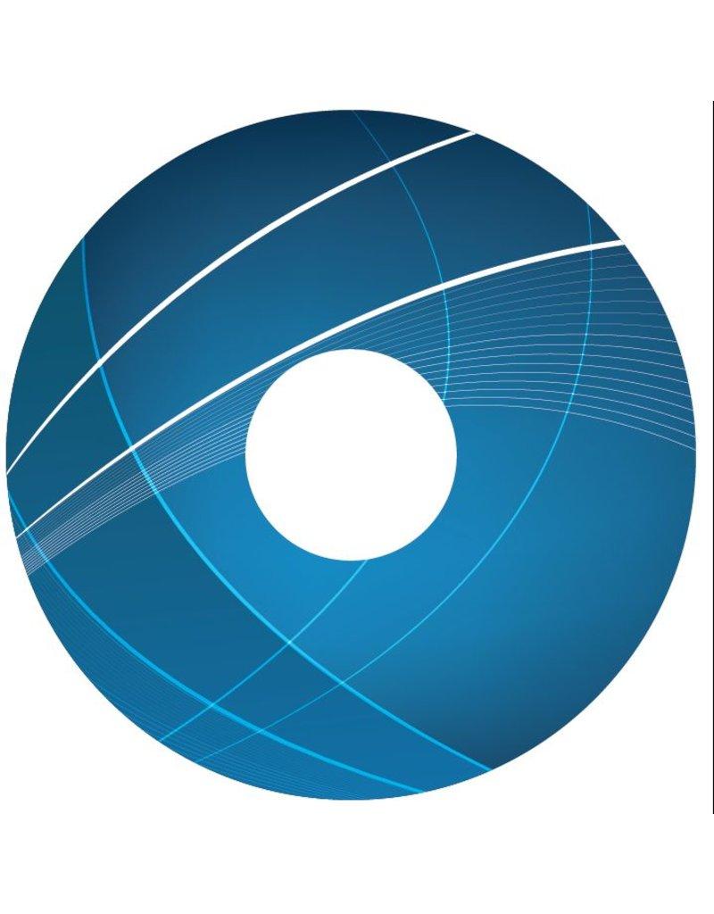 Autocollant protège-rayon Abstract bleu 3