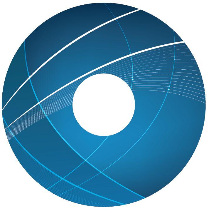 Pegatina protector de radios abstracto azul 3