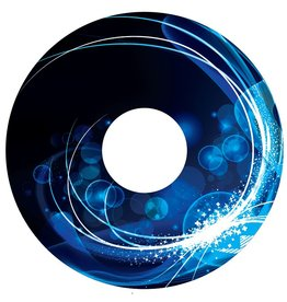 Spaakbeschermer sticker Abstract blauw 1