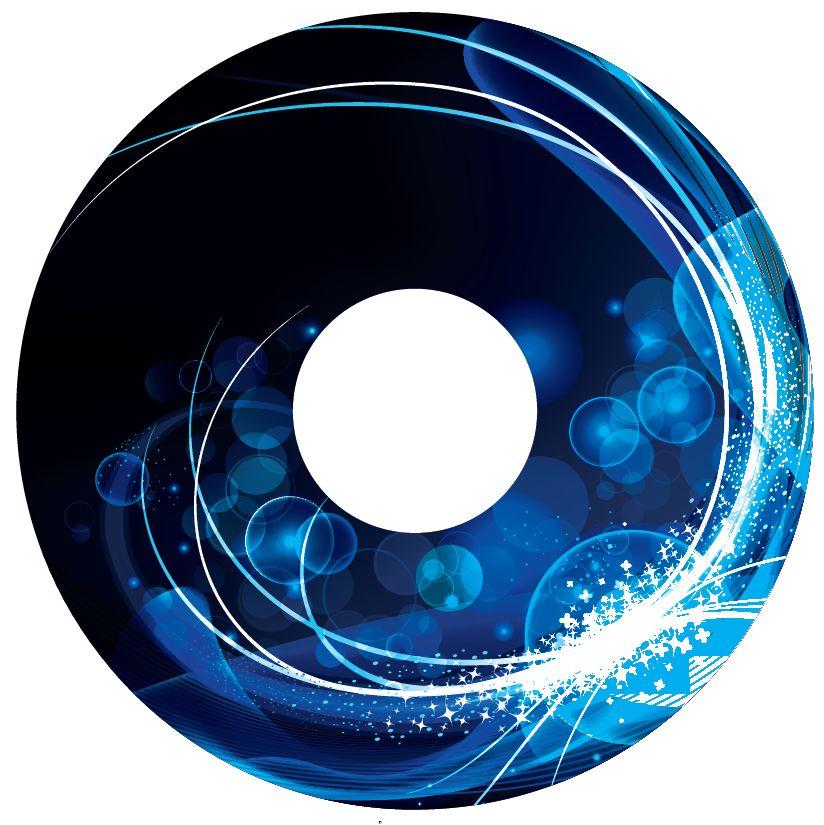 Pegatina protector de radios abstracto azul 1