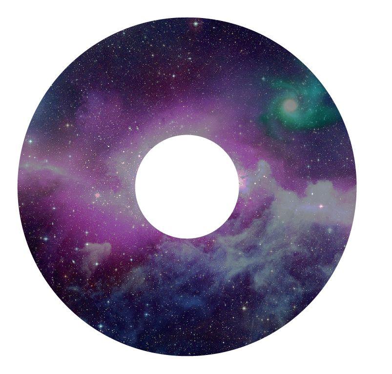 Pegatina protector de radios espacio de color púrpura