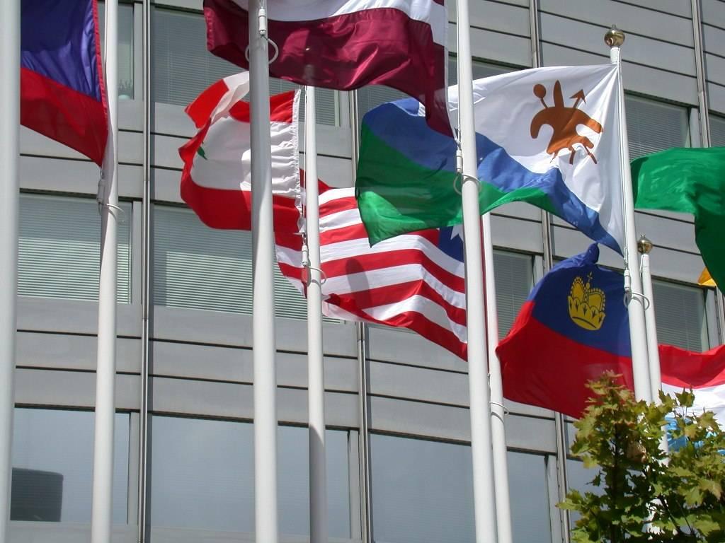 Mât de drapeaux original